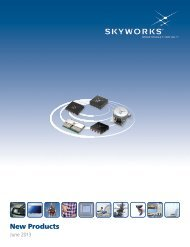 Download the New Products brochure - Skyworks Solutions, Inc.