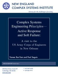 Complex systems engineering principles — active response and soft ...