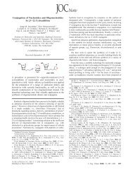 Conjugation of Nucleosides and Oligonucleotides by [3+2 ...