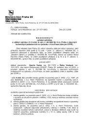 Výjimka, Vackovi è.p. 1067, umístìní garáže - Horní Počernice