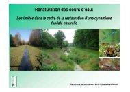 Renaturation des cours d'eau: