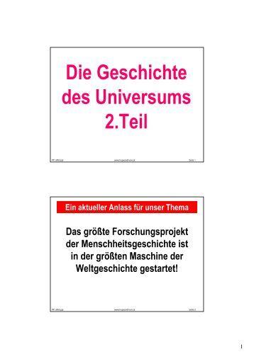 Die Geschichte des Universums 2.Teil - Hopeandmore.at