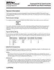 40-196 GR Eye RS232 Protocol - Lutron