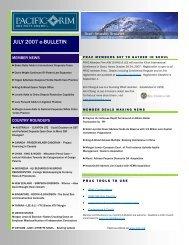 July 2007 e-Bulletin(.pdf) - Pacific Rim Advisory Council (PRAC)