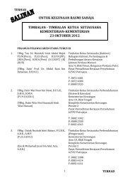 timbalan ketua setiausaha kementerian-kementerian 23 oktober 2012