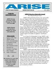 ARISE Receives Statewide Award