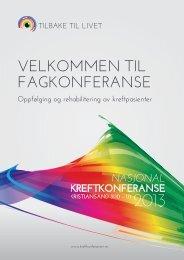 Nasjonal kreftkonferanse i Kristiansand. - Helse Bergen