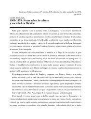 Notas sobre la cultura y sociedad en México - Seminario de ...