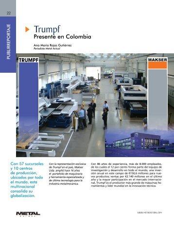 Trumpf, Presente en Colombia (720Kb) - Revista Metal Actual