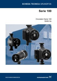 GRUNDFOS pompe serie 100 - Certificazione energetica edifici