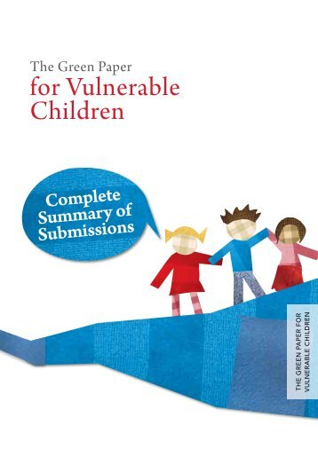 The Green Paper for Vulnerable Children - Ministry of Social ...