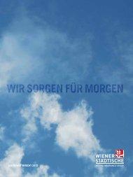 Nachhaltigkeitsbericht 2012 - Wiener Städtische
