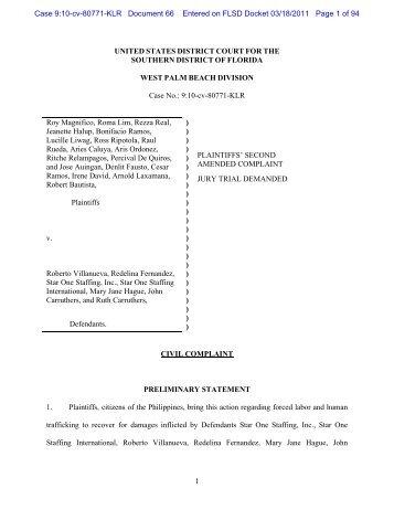 DE 65 - Second Amended Complaint 031811.doc - George ...