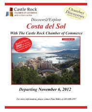 Costa del Sol - Castle Rock Chamber of Commerce