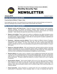 NEWSLETTER - Multi-State Information Sharing and Analysis Center