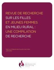 revue de recherche sur les filles et jeunes femmes en milieu rural