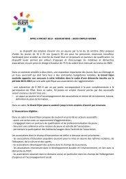 APPEL A PROJET 2013 - ASSOCIATIONS – AIDES ... - le Grand Dijon