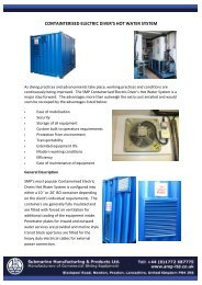 Containerised Electric Divers Hot Water System