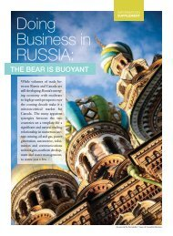 Russia 2011 feature in Canadian Business - Canada Eurasia ...