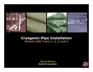 Cryogenic-Pipe Installation