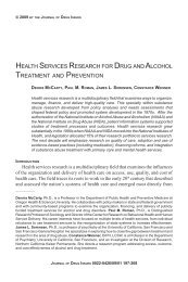 health services research for drug and alcohol treatment and ...