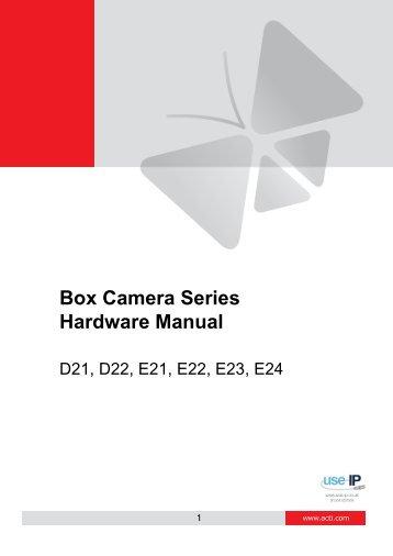 ACTi E21 Fixed Lens Hardware Manual - Use-IP