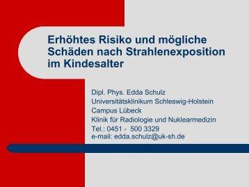 Erhöhtes Risiko und mögliche Schäden nach Strahlenexposition im