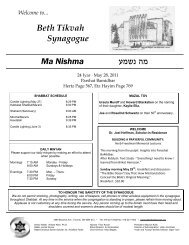 May 28, 2011 - Beth Tikvah Synagogue, Toronto