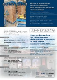 PROGRAMMA Ricerca e innovazione nel consolidamento delle ...