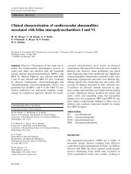Clinical characterization of cardiovascular abnormalities ... - Springer