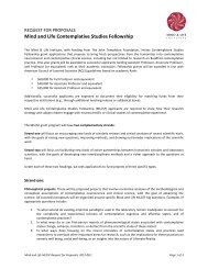 Download the RFP as a PDF - Mind & Life Institute