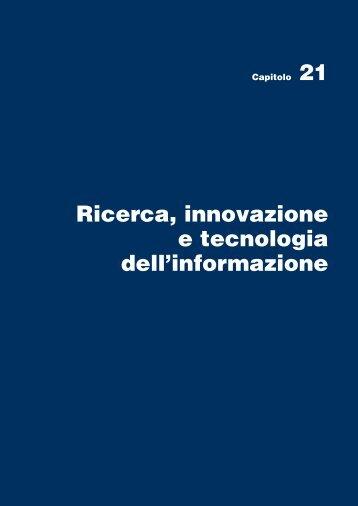 21. Ricerca, innovazione e tecnologia dell'informazione - Istat.it