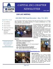 CAPITAL (DC) CHAPTER NEWSLETTER - SMTA