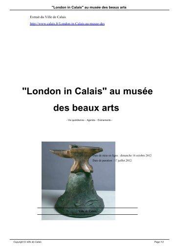 """""""London in Calais"""" au musée des beaux arts - Ville de Calais"""