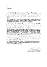 convocatoria completa - Dirección General de Vinculación Cultural ...