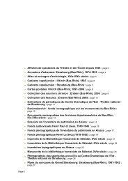Bas-Rhin - Patrimoine numérique. Catalogue des collections ...
