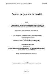 Contrat de garantie de qualité
