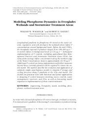 Modeling Phosphorus Dynamics in Everglades Wetlands and ...