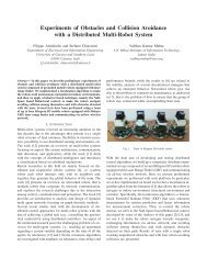 Experiments of Obstacles and Collision Avoidance with a Distributed ...