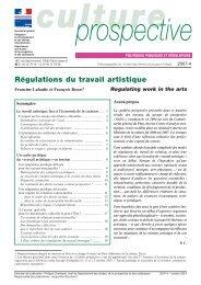 CP-2007-4. Régulations du travail artistique. - Ministère de la culture ...