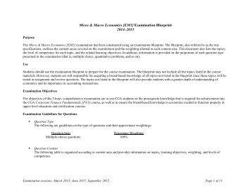 Micro & Macro Economics (EM1) Blueprint