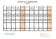 FESTIVAL LACOSTE 2004 - Avignon et Provence