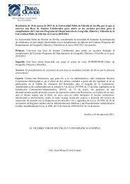 Convocatoria - Universidad Pablo de Olavide