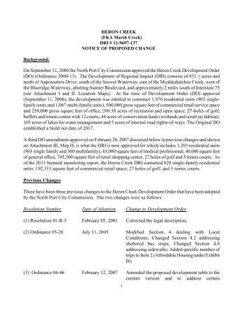 Heron Creek DRI - Southwest Florida Regional Planning Council