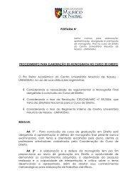 portaria monografia - Curso de Direito da Faculdade Maurício de ...