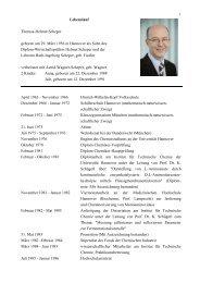 Lebenslauf Thomas-Helmut Scheper geboren am 29. März 1956 in ...