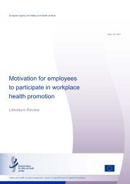 Motivation for employees to participate in workplace health