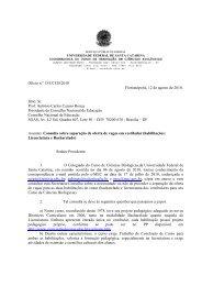 Consulta da Coordenação - Centro de Ciências Biológicas - UFSC