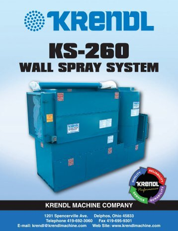 KS260 Wall Spray System - Krendl Machine Inc.