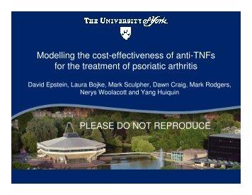 Cost effectiveness of anti-TNF's for psoriatic arthritis - MRC Network ...